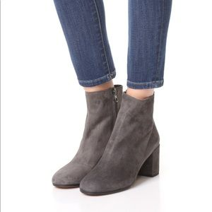 Vince Blakely booties size 7.5 gray $395 retail